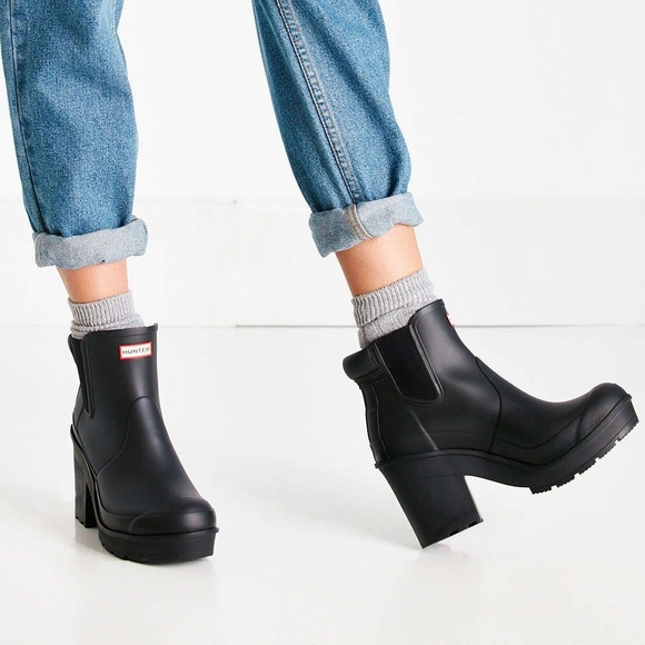 authorized site super cheap promo code Hunter Original Block Heel Chelsea Boot